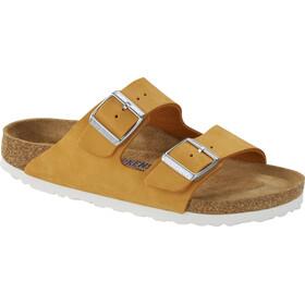 Birkenstock Arizona Sandals Nubuck Leather Soft Footbed Regular Women, orange